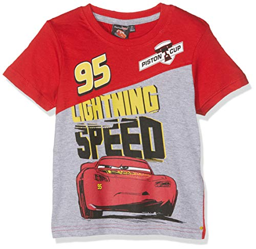 Disney Cars 5343 T-Shirt, Rosso (Rouge Rouge), 6 Anni Bambino