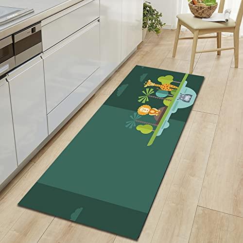 NHhuai Dormitorio Sala de Estar Antideslizante Alfombra de la para el Juego de los niños Decora el Patrón Animal Adecuado para tapetes Largos de Cocina.