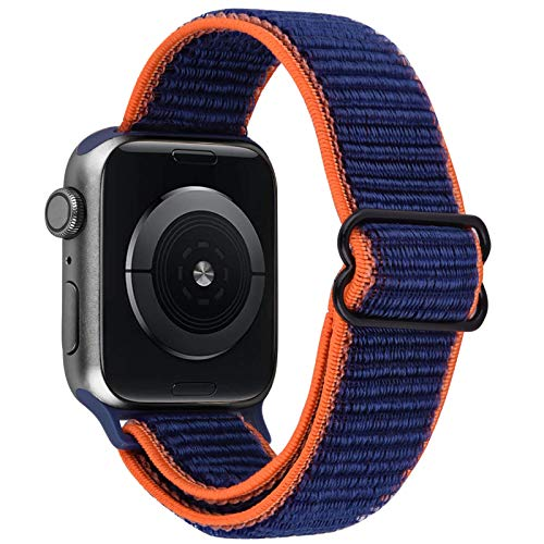 VISOOM Stretchy Bands Compatible with Apple Watch 38mm/40mm/42mm/44mm-Apple Watch Strap for iWatch Series 6/SE/5/4/3/2/1 Accessories Elastics Sports Replacement for Men Women (cyan-blue, 42mm/44mm)