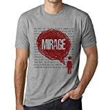 Photo de Homme T Shirt Graphique Imprimé Vintage Tee Thoughts Mirage Gris Chiné