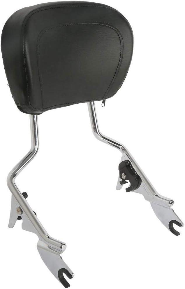TCMT shopping Sissy Bar Passenger Backrest W G for Pad Fits Max 53% OFF Street Harley