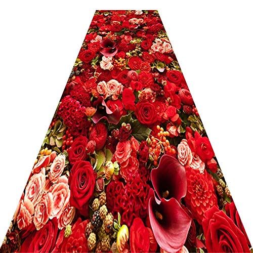 Alfombra MeiHao Runner Carpet Corredor Pasillo Alfombra Patinaje con patrón de Jacquard Mixto, Corredor de Bodas - Ceremony Aisle - VIP Carpet - Alfombra para Eventos, Varios tamaños, Personalizable