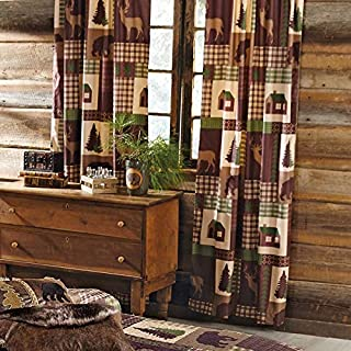 BLACK FOREST DECOR Woodland Cabin Wildlife Drapes