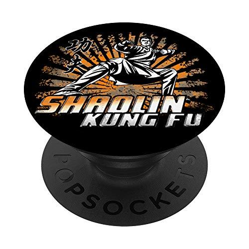Monje de Kung Fu Shaolin, Maestro de Kungfu PopSockets PopGrip: Agarre intercambiable para Teléfonos y Tabletas