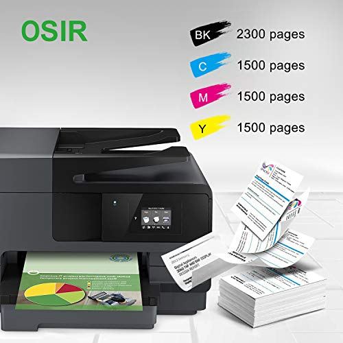 OSIR 950XL 951XL Compatible Ink Cartridge Replacement for HP 950 951 XL Combo Pack, for Officejet Pro 8600 Plus 8600 86   10 8620 8630 8100 8660 8615 251dw 276dw 271dw, 5 Packs (2BK, 1C, 1M, 1Y)