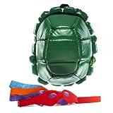 Bioworld Nickelodeon TMNT Shell mochila verde con 4 máscaras