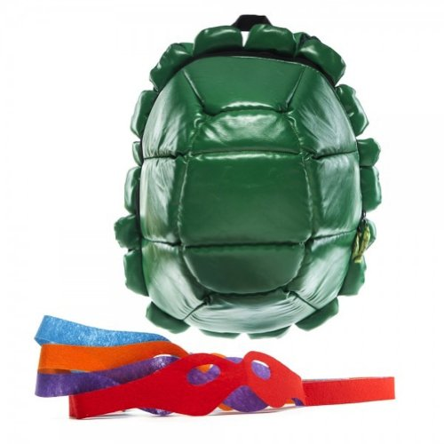 Teenage Mutant Ninja Turtles TMNT Turtle Shell Backpack with 4 Masks [Apparel] Green