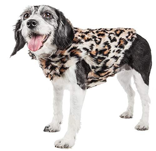 PetLife Luxe Lab-Pard - Abrigo para Perro (Piel de visón, Talla Mediana),...