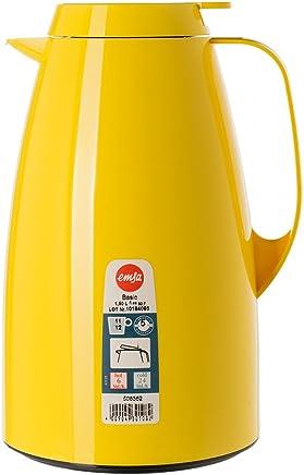 爱慕莎(emsa)德国原装进口贝格真空保温壶家用保温瓶热水瓶暖瓶暖壶热水壶开水瓶1.5L 黄色 单手操作 Quick Press 闭合系统