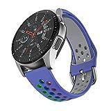 ISABAKE 20mm Correa Reloj Compatible con Garmin Vivoactive 3/Galaxy Watch 42 mm / Active 2/ Gear Sport / S2 Classic / Huawei Watch 2, Silicona Suave de Repuesto Quick Releae Correa Reloj