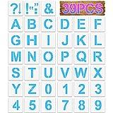 Plantillas Letras Números Plantillas de Alfabeto Reutilizables Huecas, Plantilla de Números de 4 Pulgadas para Manualidades Diy, Pintura, Escritura, Aprendizaje, 39 Piezas
