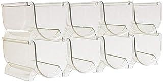 FCXBQ Casier à vin empilable Comptoir de casier à vin - Stockage Transparent pour Les Boissons à l'eau de vin Supports emp...