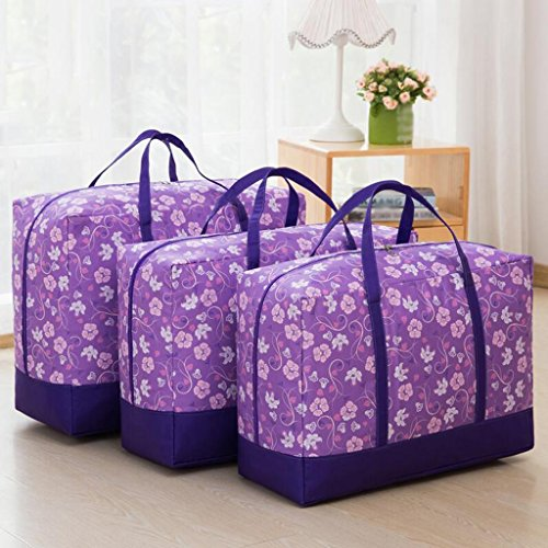 Xuan - Worth Another Motif Floral Violet Les courtepointes contiennent Le Sac de Finition Un Sac de couettes Vêtements Boîte de Finition étanche à l'humidité Dazhong et Autres Petits