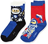 Legowear Boy's Lego Nexo Knight ACE 704-SOCKS Socks, Red, 4 Years Pack of 2