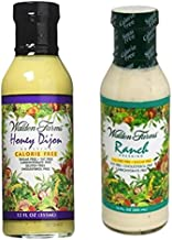 Walden Farms Calorie Free Dressing, Honey Dijon 12 oz & Ranch Dressing 12 oz (Pack of 2)