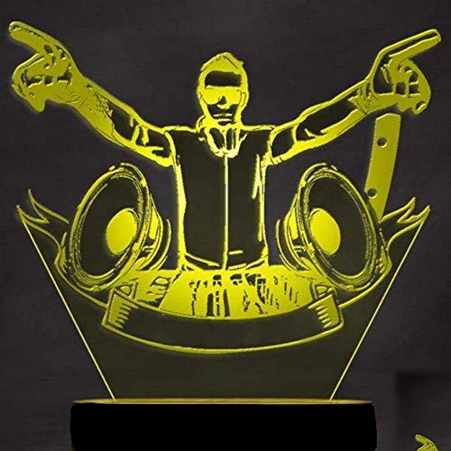 Jinson well 3d DJ Música lámpara de mesa luz nocturna cambio de 7 colores LED luz de noche para Decor Regalo
