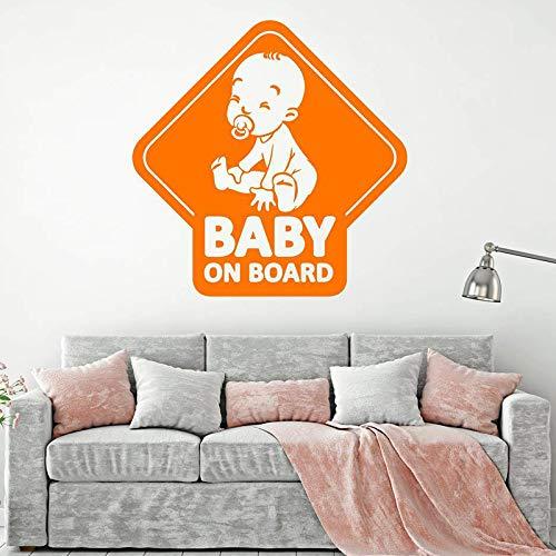Blanco, 10x10cm Nombre para Coche de CrisPhy Pegatina Personalizada Vinilo Bebe a bordo