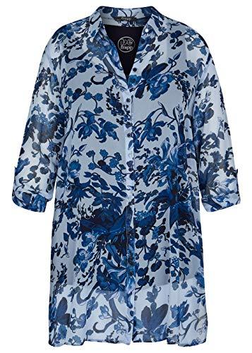 Frapp Damen Elegante Hemdbluse mit geblümtem Muster