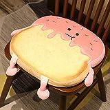 YiXing Cojín de felpa de 30/40 cm de simulación de pan tostado relleno de espuma de memoria en rodajas para pan, decoración de sofá, silla de cumpleaños, juguetes de peluche (color de 40 cm)