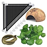 X-zoo Bearded Dragon Hammock, Reptile Leaves, Coconut Cave Shelter, Artificial Reptile Vines with Suction Cups, Artificial Habitat Decor Accessories for Lizards Snakes Chameleon Gecko