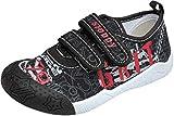 gibra® Freizeitschuhe Sneaker für Kinder, Art. 8647, mit Klettverschluss, schwarz, Gr. 25