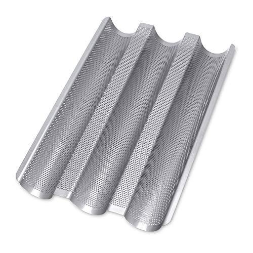 Städter Backform, Metall, Silber, 37 x 24 x 2, 5 cm