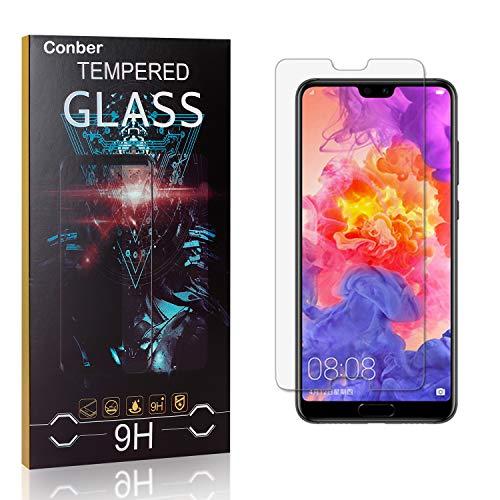 Conber [1 Stück] Displayschutzfolie kompatibel mit Huawei P20 Pro, Panzerglas Schutzfolie für Huawei P20 Pro [9H Härte][Hüllenfreundlich]