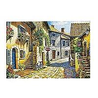 300ピース ジグソーパズル 石の町 木製ジグソーパズル Puzzle (38.3x26cm)