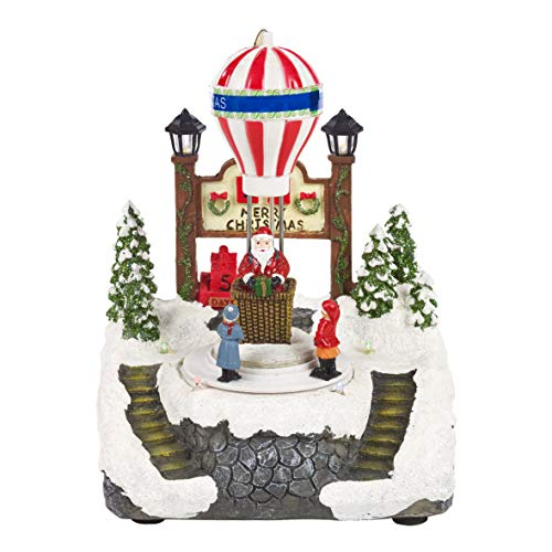 The Christmas Workshop - Adorno de Escena, Variado, 20 cm de Alto x 16,5 cm de Ancho x 14,5 cm de Profundidad