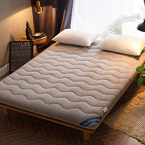 Soft Foldable Tatami Mattress, Japanese Portable Floor Mat Roll Up Thick Mattress Pad Single Double Sleeping Pad For Camping Dormitory Home (Color : B, Size : 90x190cm(35x75inch))