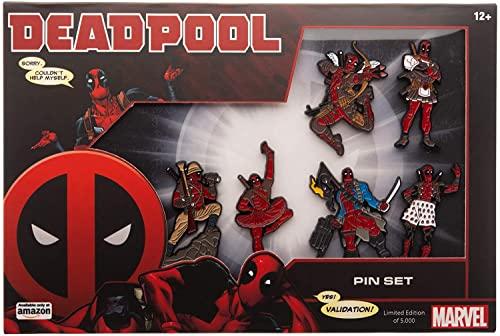 Marvel Deadpool Enamel Six Pin Set (Amazon Exclusive)