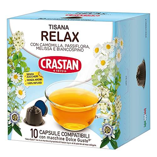 Crastan Capsule Compatibili Dolce Gusto - Tisana Relax Confezione da 6 astucci contenenti 10 capsule - Totale 60 capsule