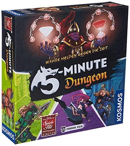 Kosmos 692889 - 5-Minute Dungeon - Wahre Helden gegen die Zeit. Temporeiches Gesellschaftsspiel für Realtime Fans