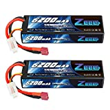 Zeee 7.4V 60C 6200mAh 2S RC Lipo Battery Hardcase with Deans Connector for RC Vehicles Car Truck Truggy Boat(2 Pack)