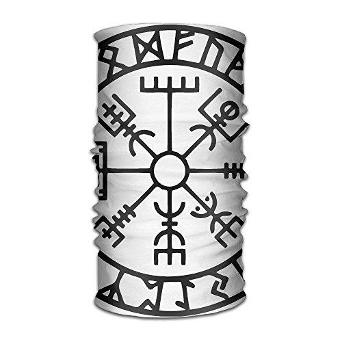 Pengyong Écharpe à capuche unisexe en microfibre à séchage rapide avec motif runes viking