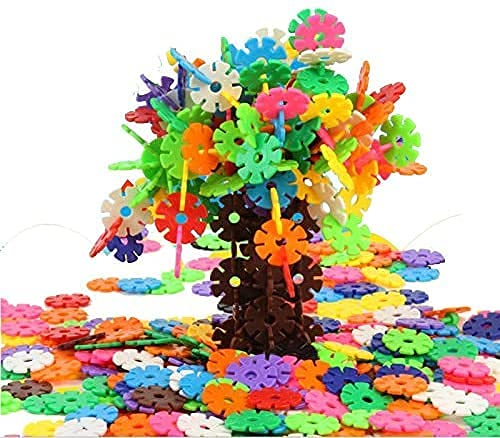 400 PCS Snowflake Flake Toys , Creative and Educational Alternative to Building Blocks ,STEM Toys for Boys or Girls Ages 3 4 5 6 Year Olds-10