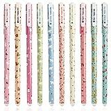 Ciaoed Bolígrafos de Gel Plumas de Gel Kawaii Papelería de Dibujos Animados 10 Colors Set