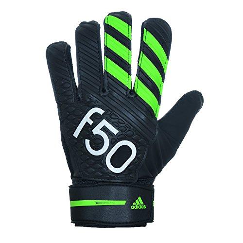 Adidas Torwarthandschuhe F50 Training Torwart Handschuhe Black/Solargreen S88995, Größe:10