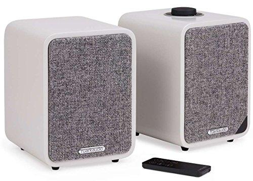 ruarkaudio MR1 MKII aktive Bluetooth-Lautsprecher, Paar, matt grau (soft grey)