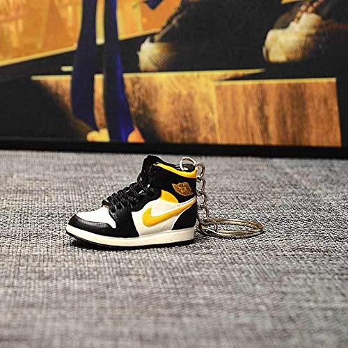 Jordan aj1 EIN Paar nackte Schuhe aj Schlüsselbund Basketballschuhe dreidimensionale Schuhform Tasche Anhänger handgefertigte Auto Schlüsselanhänger 1