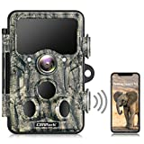 Campark Wildlife Camera WiFi Bluetooth 20MP 1296P Trail Camera con 940nm No Glow IR LEDs Visión nocturna IP66 Impermeable para monitoreo de vida silvestre al aire libre