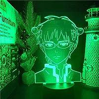 GMYXSW 3D夜の光LED幻想的なランプSaiki K 3Dの錯覚夜の淡い色の変更テーブルランプがクリスマスのギフトとしてledしました-接する