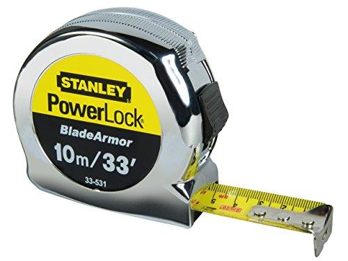 Stanley 0-33-531 Powerlock - Cinta métrica (10 m)
