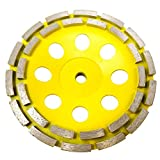 Stadea CWD205H Concrete Grinding Wheel 7 Inch Double Row Diamond Cup Grinding Grinder Wheels Disc for Concrete Masonry Stone Granite Grinding