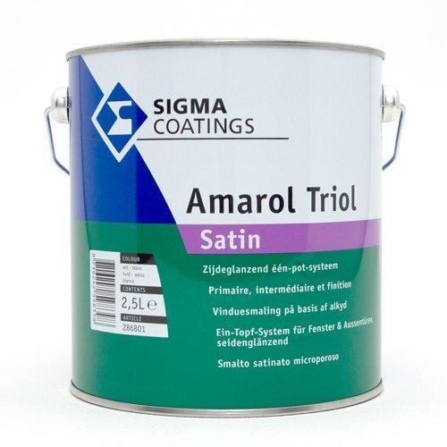 SIGMA Amarol Triol Satin 2,5 Liter Weiß