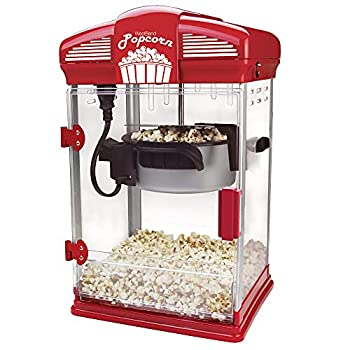 West Bend Hot Oil Theater Style Popcorn Popper Machine with Nonstick Kettle Includes Measuring Tool and Serving Scoop 4-Ounce Red 1 Count