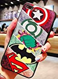 Art-design Coque iPhone 7+ Plus et iPhone 8+ Plus Superman Spiderman Catwoman Captain America Hulk Iron Man Thor Flash Comics Marvel Super Heros Silicone Souple