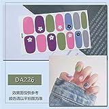 Nail Art Case 14 Unids/set Adhesivo para uñas Adhesivos completos Impermeable Ambientalmente Adhesivo para agua de uñas Multicolor Nail Polish Film-DA226-