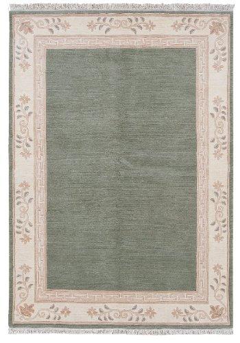 Luxor Living Nepal Teppich handgeknüpft grün Größe auswählen 40 x 60 cm