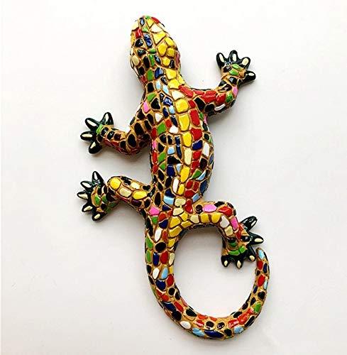 YWEHAPPY Neue Handgefertigte Spanische Mosaik Gecko Lizard 3D Fridge Magnets Tourismus Souvenirs Kühlschrank Magnetic Stickers Geschenk